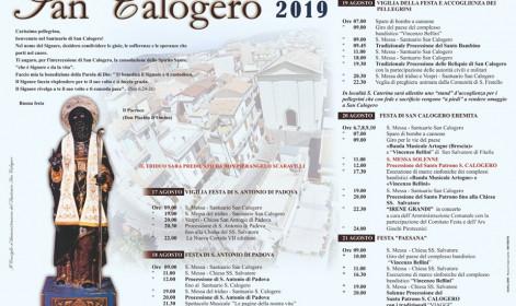 manifesto san calogero 2019